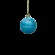 BLUE GOLD GLASS MARBLED BALL (12)