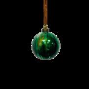GREEN MARBLED GLASS BALL (12)