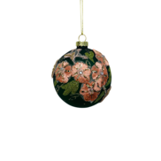 GREEN WITH PINK EMBROIDERY GLASS BALL (12)
