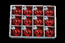 SET12 3CMD RED GLASS HANGERS (6)