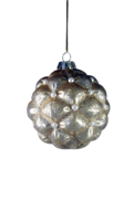 AGED GOLD GLASS HANGER WITH INSET PEARLS (12)