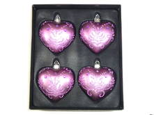 SET 4 PURPLE HEARTS W. DIAMANTE (2)