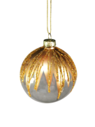 CLEAR GLASS BALL WITH GOLD TOP (12)
