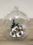 HANGING GLASS BALL WITH TREE AND HOUSE (8)