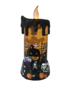 ORANGE MOVING HALLOWEEN CANDLE