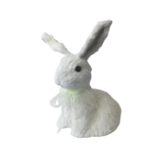 HOPPING WHITE FUR BUNNY