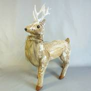 37CMH LARGE BARK & FUR WALKING REINDEER
