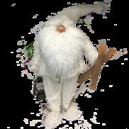 85CMH STANDING WHITE GNOME SANTA WITH SKI