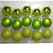 Box 15 Glass balls in shades of Green (4)