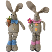 PAIR BOY/GIRL LINEN BUNNIES