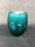 AQUA VOTIVE HOLDER WITH HANGER DESIGN (12)