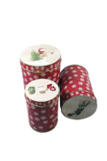 SET3 ROUND TINS WITH RED SNOWFLAKE DESIGN (2)