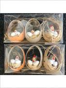 SET 6 CHICKEN IN EGG BASKET