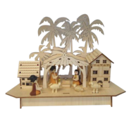 LIGHTUP STABLE NATIVITY SCENE
