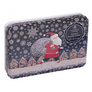 CHRISTMAS SANTA SNOW VILLAGE TIN (3)