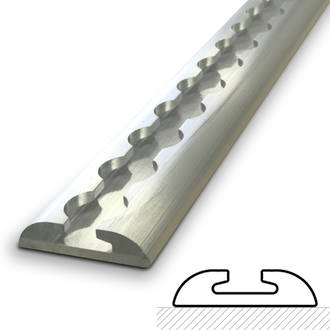 522396T Macs USA Aluminium Track Kit # 3-2.44M (8Ft) Single Track Length Only -No Fastenings + No Single Stud Rings