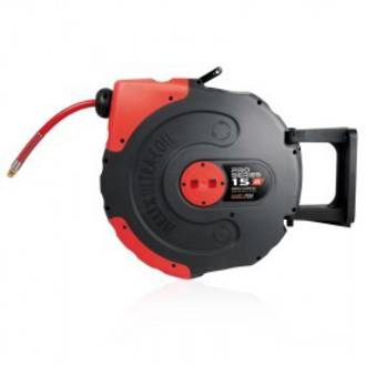 Jamec Pem JP58.1056 Pro Series Retractable Air Hose Reel 12.5mm x 15M Hi Flow Freight Free