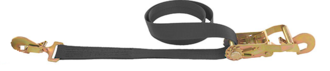"121007 Macs USA Ratchet Tie Down 50MM (2"") Black 1.83M (6FT) Direct Hook Option"