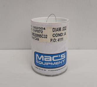 14032 Stainless Steel Lock Wire 0.032 1/4 Lb Can 45M (148Ft)