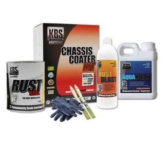 57002 KBS CHASSIS COATER KIT FOR FULL SIZE CAR OR UTE SATIN BLACK