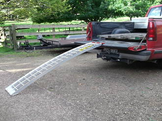"""612S USA Aluminium Ramp (Single) Arched. Total Capacity 227Kg, Ramp is 1.83M (6Ft) Long x 300mm (12"""") Wide"""