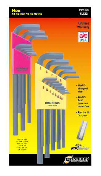 BD22199 Bondhus L Wrench Hex End Double Pack