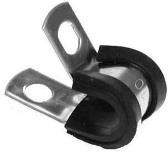 """RLC38 Rubber Lines Steel Clamps for 3/8"""" Tube"""