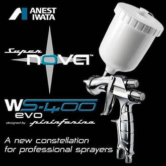 FIW223 Iwata WS400 Supernova Gravity Spray Gun 600ml Pot 1.3mm