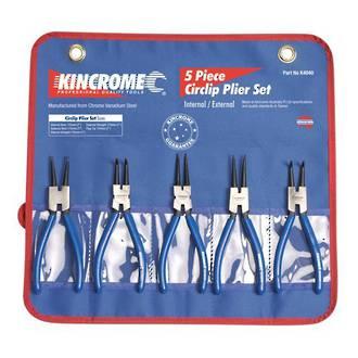 KK4040 Kincrome Circlip Pliers Set 5 Piece