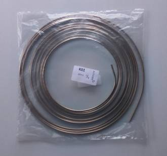 "KBP14H Kunifer Cupro Nickel Brake Tube 1/4"" x 3.8M (12Ft)"