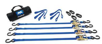 510001 Macs USA Ratchet Tie Down Motorcycle & Utility Pack Black 1.83M (6Ft)