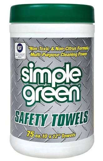 Simple Green Safety Towels 75 Pack