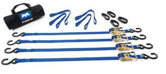 510112 Macs USA Ratchet Tie Down Utility All Purpose Pack Blue 3.05M (10Ft)