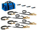 511116 Macs USA Ratchet Tie Down Super Pack Black-Direct Hook Ratchet Option