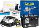 FIWTRADE Iwata Tradesperson Air Brush Kit Large Gravity 6 Piece