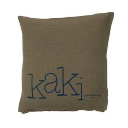 Bed & Philosophy pure linen Molly Cushion in Kaki
