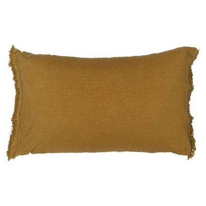 Bed & Philosophy pure linen Fringe Pillowcase - Std Size in Butternut (sold out)