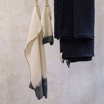 Pure cotton dip dyed Hand Towels & Facecloths from: