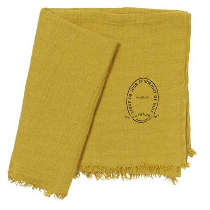 Bed & Philosophy Pure Linen Throw - Curry