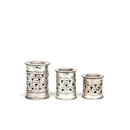 Candleholders 'Scarlet' design. 3 Sizes available from: