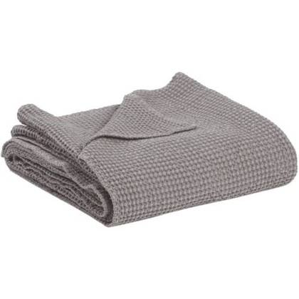 Portuguese Cotton Throw - Soft Grey