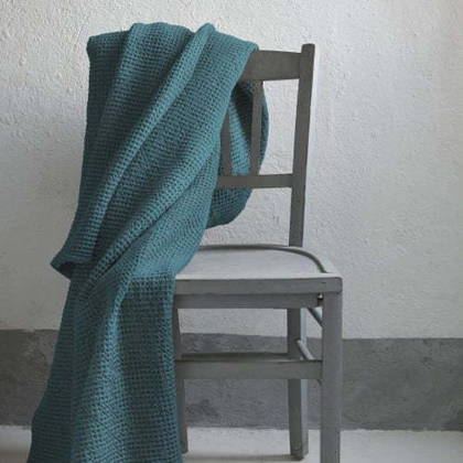 Portuguese Cotton Throw - Peacock Blue