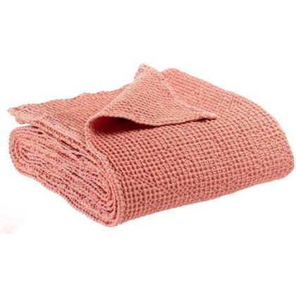 Portuguese Cotton Throw in Soft Pink - large