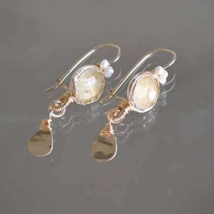Earrings crown citrine - n° 190