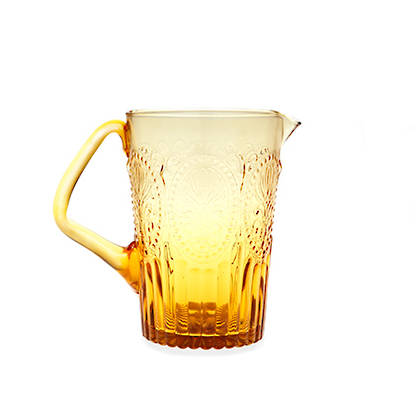 Fleur de Lys Amber Pitcher (available to order)