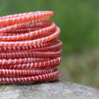 Jokko Bracelets from Mali Africa - set of 6 Red (sold out)