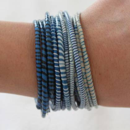 Jokko Bracelets from Mali Africa - set of 6 Dark Blue (sold out)