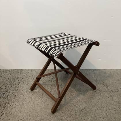 Folding Stool - Tom Noir Cotton