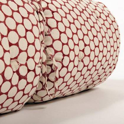 French cotton tufted mattress - Block Print Red & White
