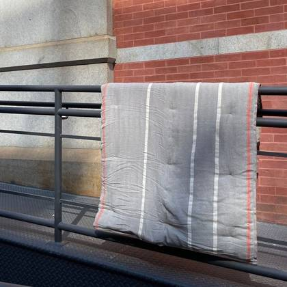 French cotton tufted mattress - design n°9 Grey